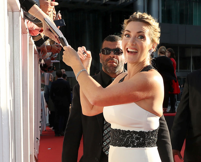 Actor Kate Winslet arrives at the premiere of the film