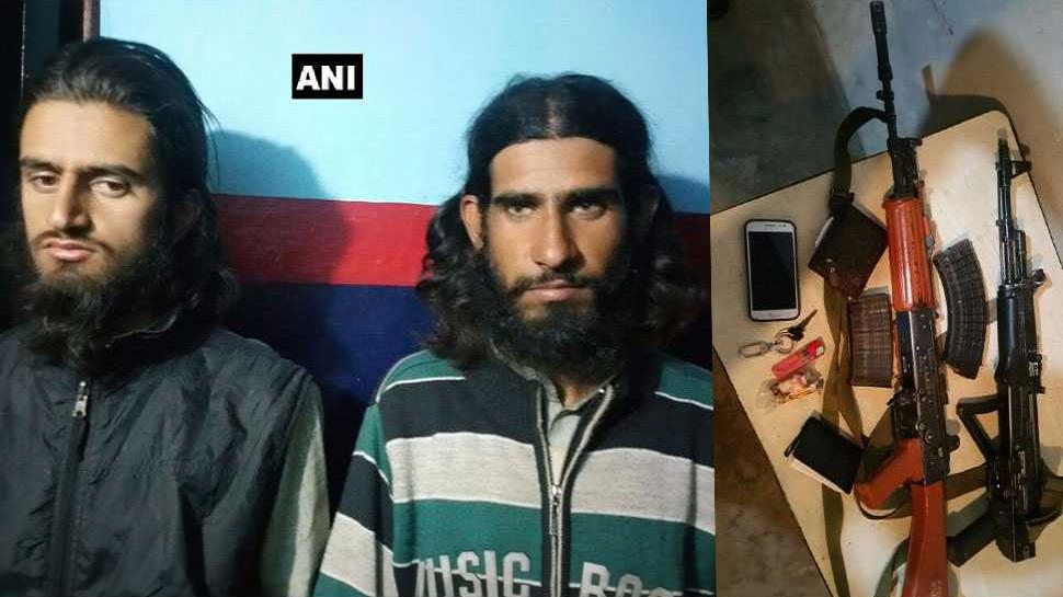 जम्मू एवं कश्मीर में 2 आतंकवादी गिरफ्तार, तीसरे की तलाश जारी