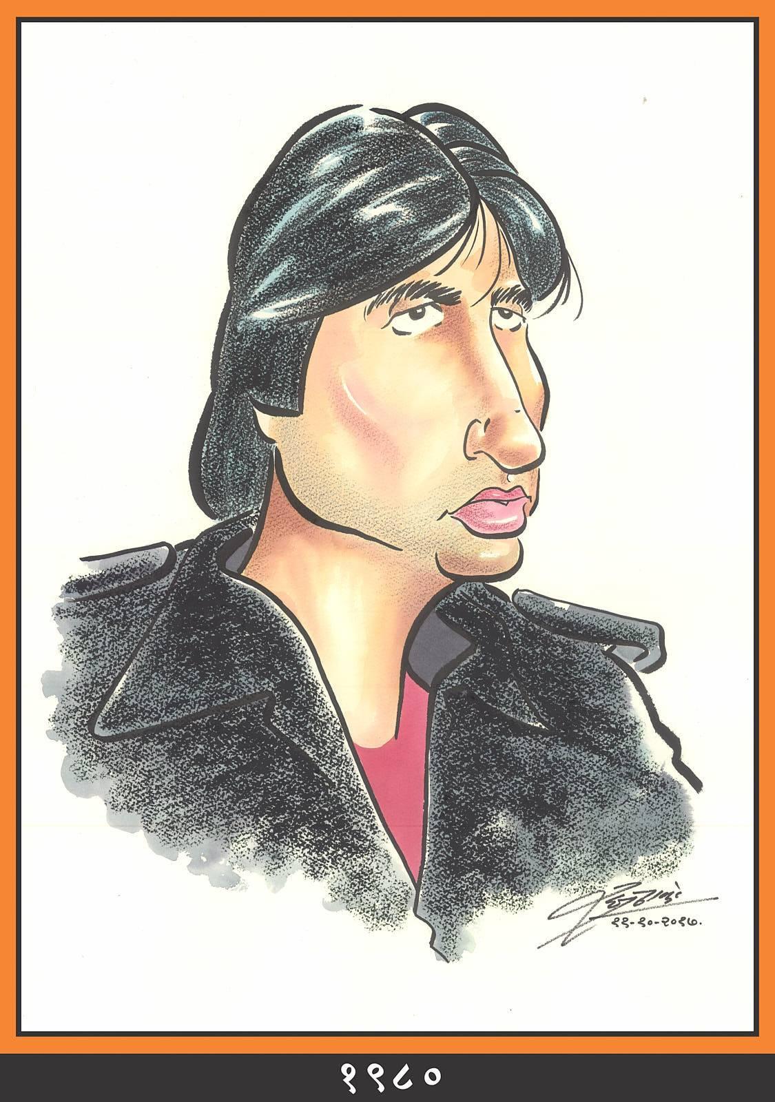 Raj Thackeray wishes Amitabh Bachchan through his caricatures
