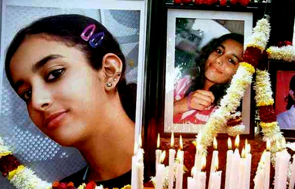 14-year-old Aarushi Talwar found dead with her throat slit in the bedroom of her home in Noida. Domestic help Hemraj, a Nepali, suspected of murder