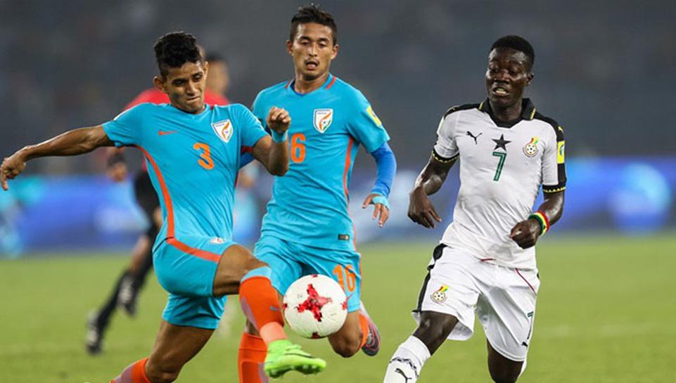 फीफा यू-17 विश्व कप : भारत को आखिरी मैच में मिली हार, घाना अगले दौर में