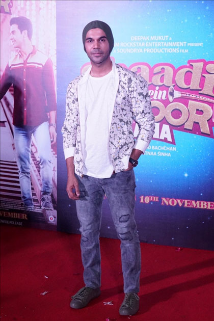 Actor Rajkummar Rao during the trailer launch of their upcoming film