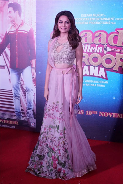 Actress Kriti Kharbanda during the trailer launch of their upcoming film