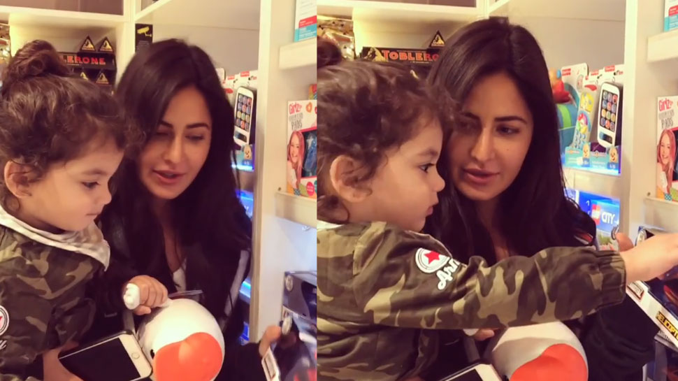 After all, this baby girl with Katrina being shopping, video viral happening puridunia.com