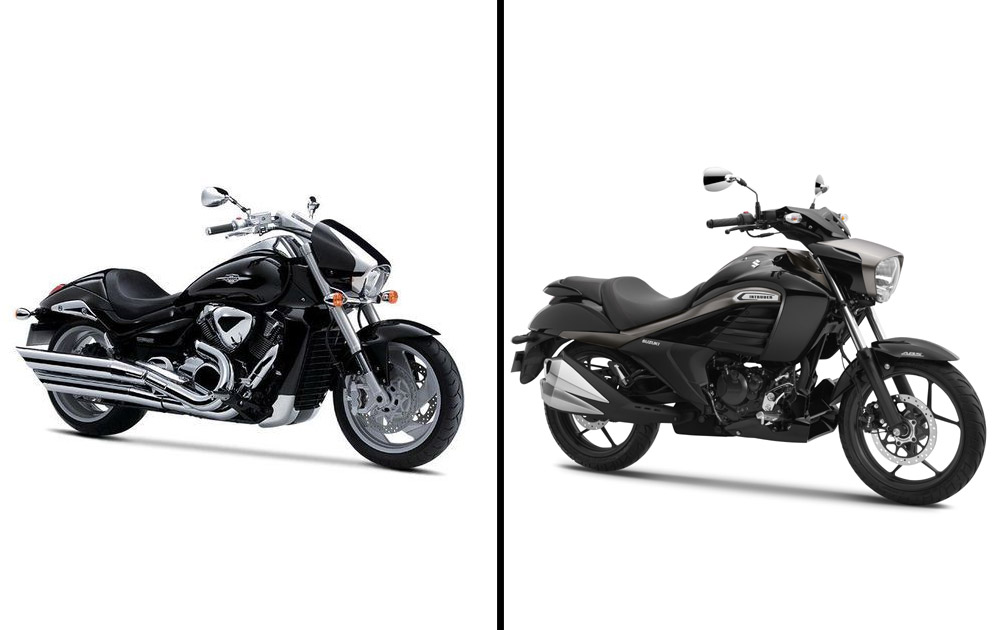 The bike borrows design elements from the mighty  Suzuki Intruder M1800R on sale globally.
