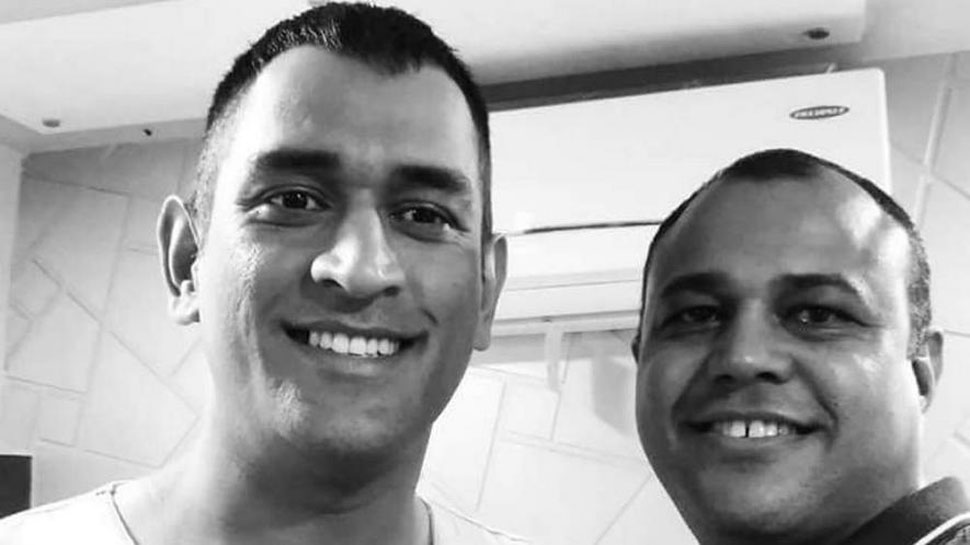 MS Dhoni new Hairstyle