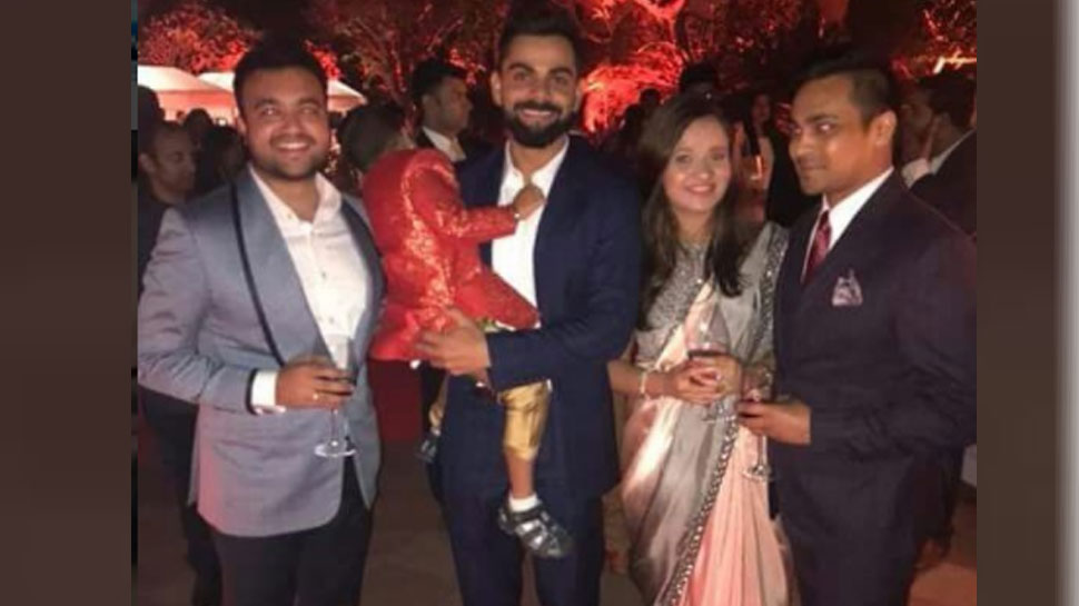 Virat kohli in bhuvi Reception