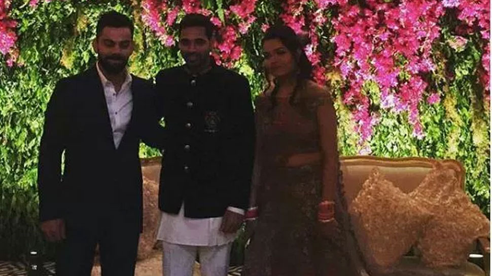 Virat kohli in bhuvneshwar kumar Reception