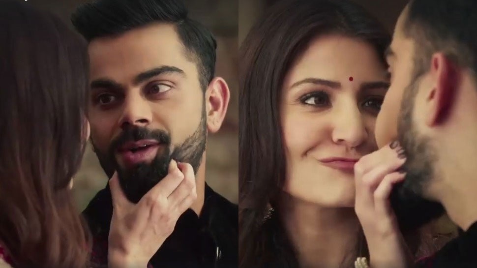 Virat Kohli Anushka sharma in advertisement