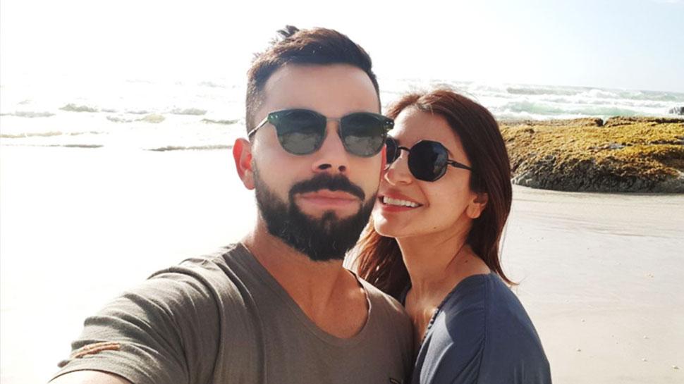 पत्नी अनुष्का शर्मा के साथ विराट कोहली ने शेयर की Beach Selfie