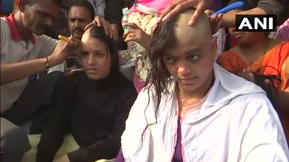 शिवराज सरकार ने अल्टीमेटम को किया अनसुना, महिला टीचरों ने मुंडवा लिए सिर