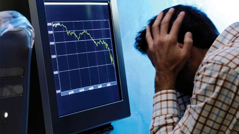 औंधे मुंह गिरा शेयर बाजार, एक मिनट में 2 लाख करोड़ का नुकसान