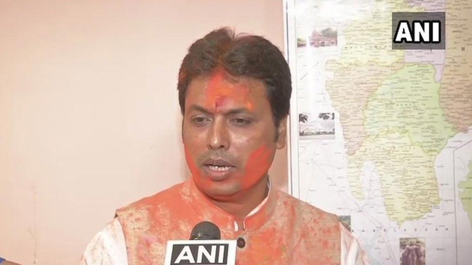 त्रिपुरा: पूर्वोत्तर में BJP की पहली सरकार का आगाज आज, बिप्लब देब लेंगे CM पद की शपथ