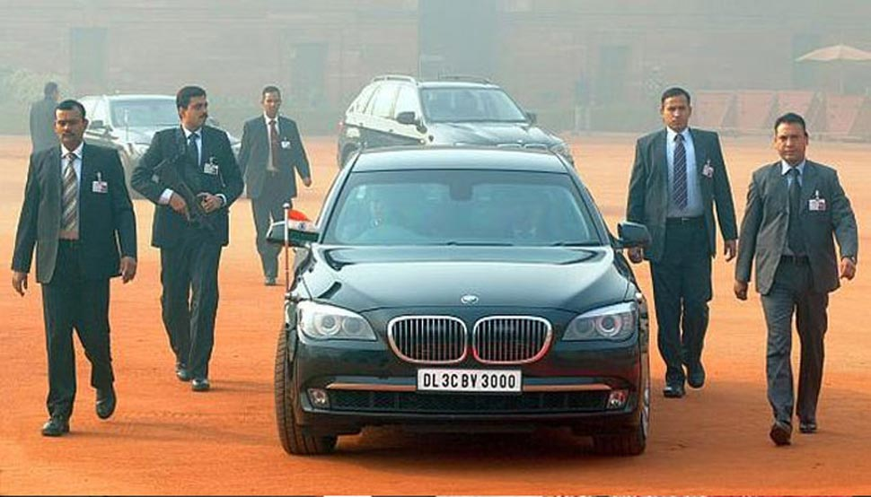 Mukesh ambani's z-security and cars