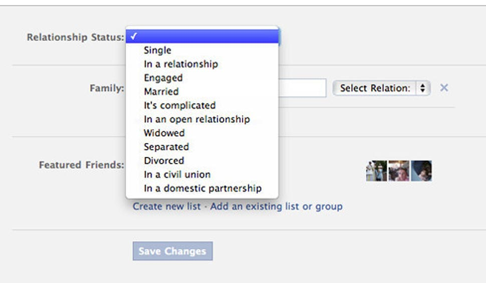 Don't share your relationship status on facebook