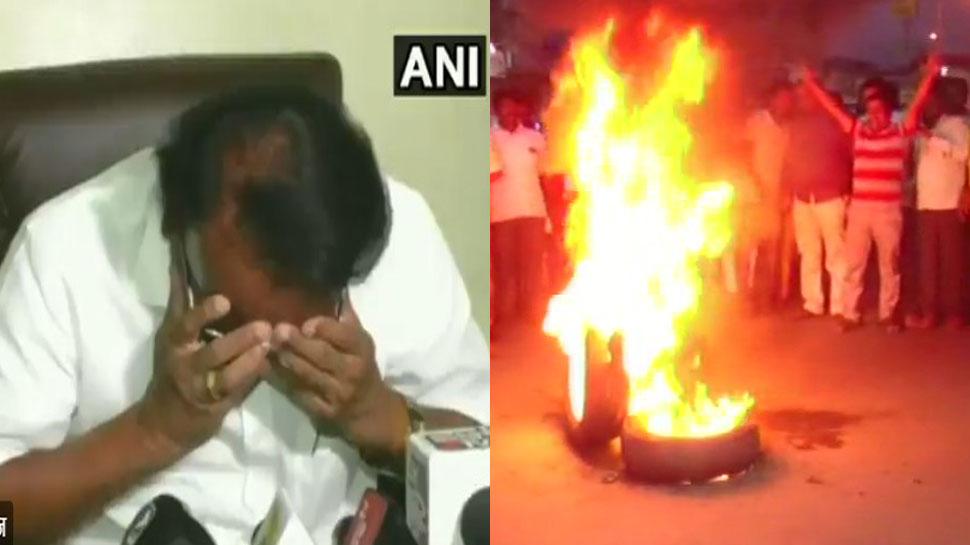 VIDEO : टिकट बंटवारे पर BJP में मचा घमासन, मीडिया के सामने फूट-फूट कर रोए नेता