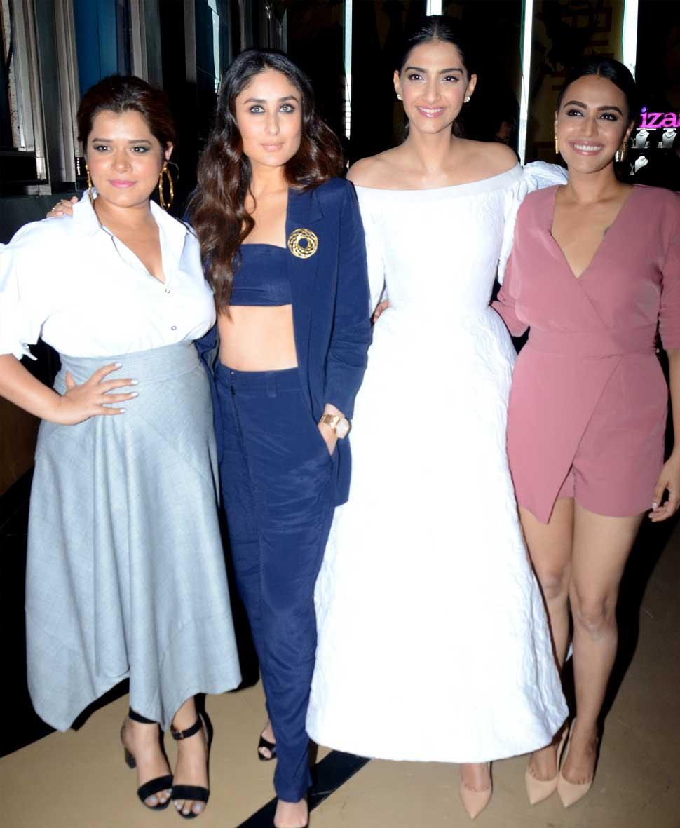 Sonam Kapoor, Kareena Kapoor At the Veere Di Wedding trailer launch Event