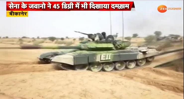 VIDEO: रेतीले धोरों में जंगी टैंकों के धमाकों से थर्रा उठा थार!