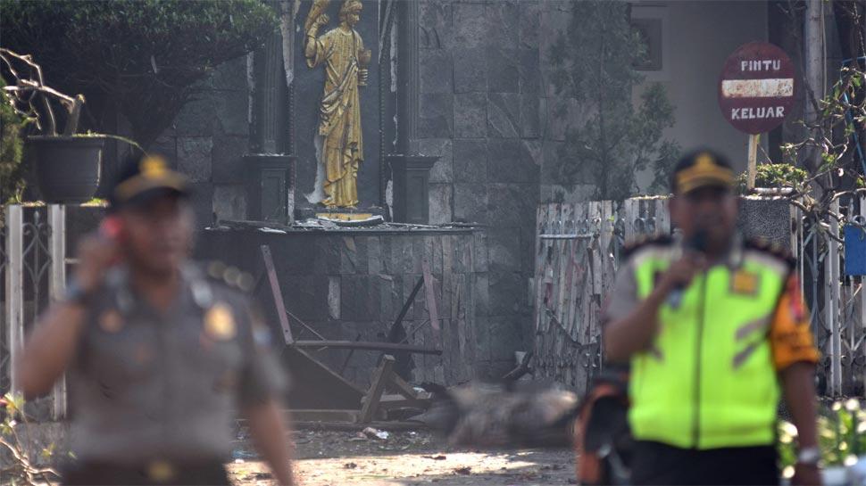 इंडोनेशिया: 10 मिनट के भीतर 3 चर्चों पर आत्मघाती हमला, 9 की मौत, ISIS पर शक की सुई