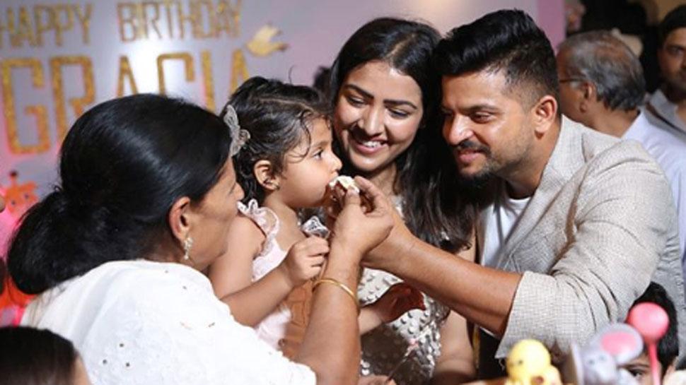 VIDEO: महेंद्र सिंह धोनी ने रैना की ग्रेसिया के लिए गाया- Happy Birthday To You