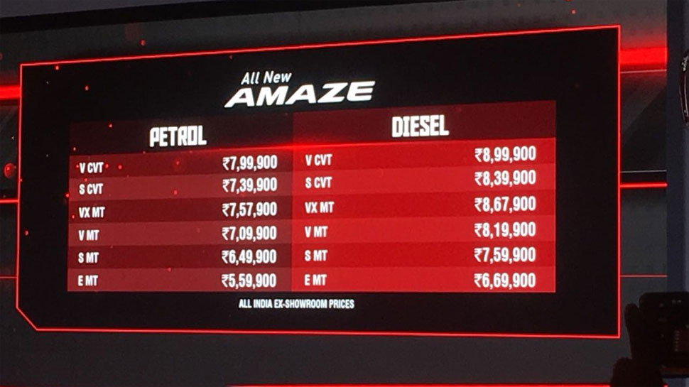 honda cars india launches new amaze here are the details