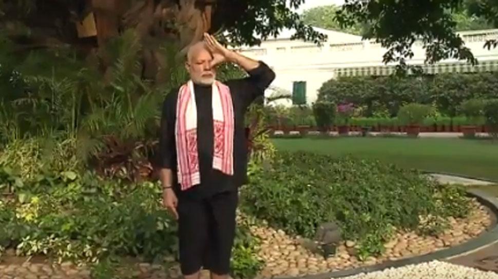 VIDEO: 67 की उम्र में PM नरेंद्र मोदी ने फिटनेस का दिया लाजवाब सबूत