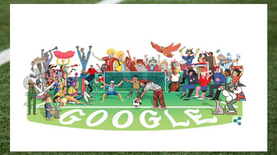 Image result for गूगल ने बनाया खास फुटबॉल  डूडल