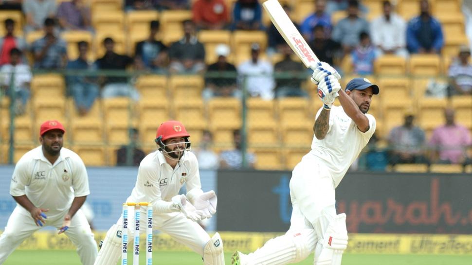 INDvsAFG Day 1 : भारत के 347 रनों में शिखर धवन और मुरली विजय के शतक