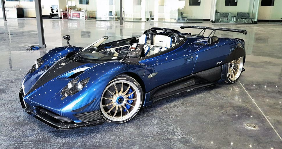 Pagani Zonda HP Barchetta has 7.3 Litre engine