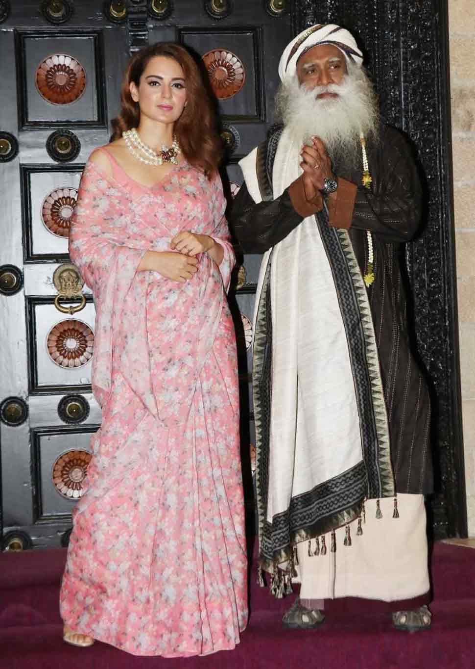 Kangana Ranaut At an interaction with Sadhguru