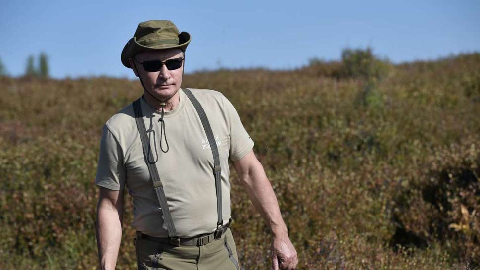Putin taking a hiking holiday in Siberia