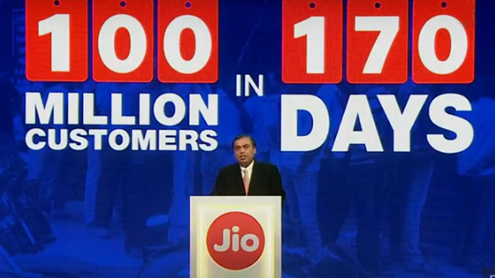 Reliance Jio add 100 million users in just 170 days