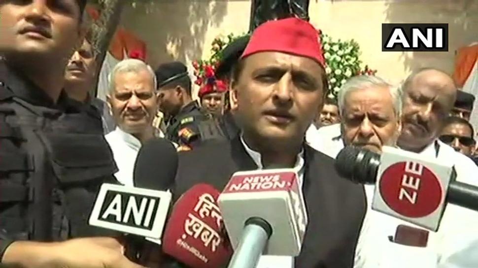 भारत बंद पर बोले अखिलेश, 'घमंड में जी रही BJP सरकार, नहीं निभाया कोई वादा'
