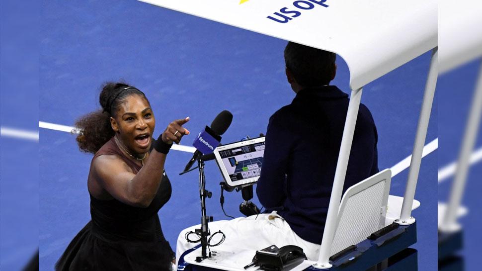 US Open: सेरेना पर लगा जुर्माना, मैच अंपायर पर लगाए थे गंभीर आरोप