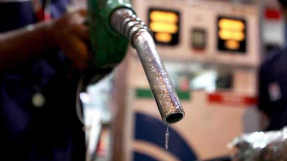Check nozzle button at petrol pump