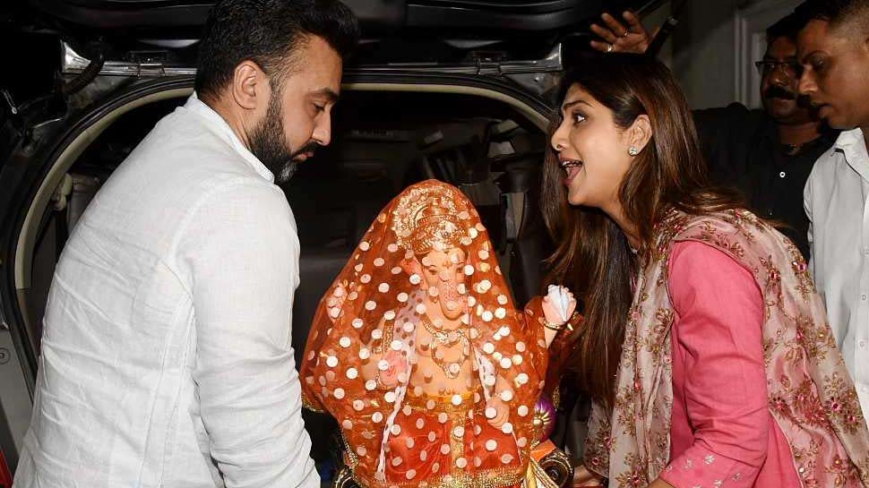 Shilpa Shetty with son and Husband Raj Kundra