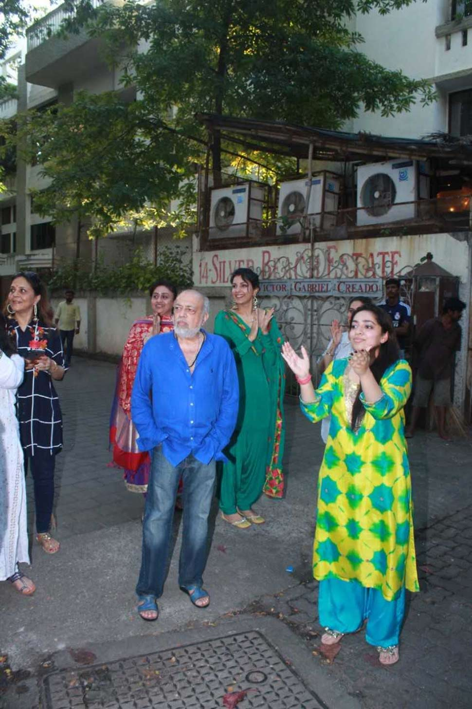 filmmaker JP Dutta at his Home with daughters