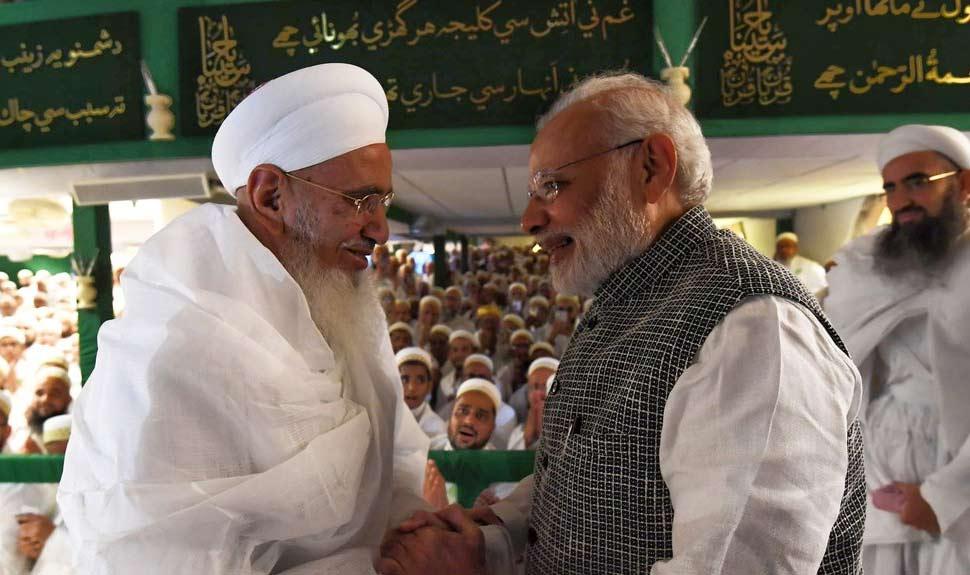 PM Modi spend 30 minutes at Saifee Nagar mosque