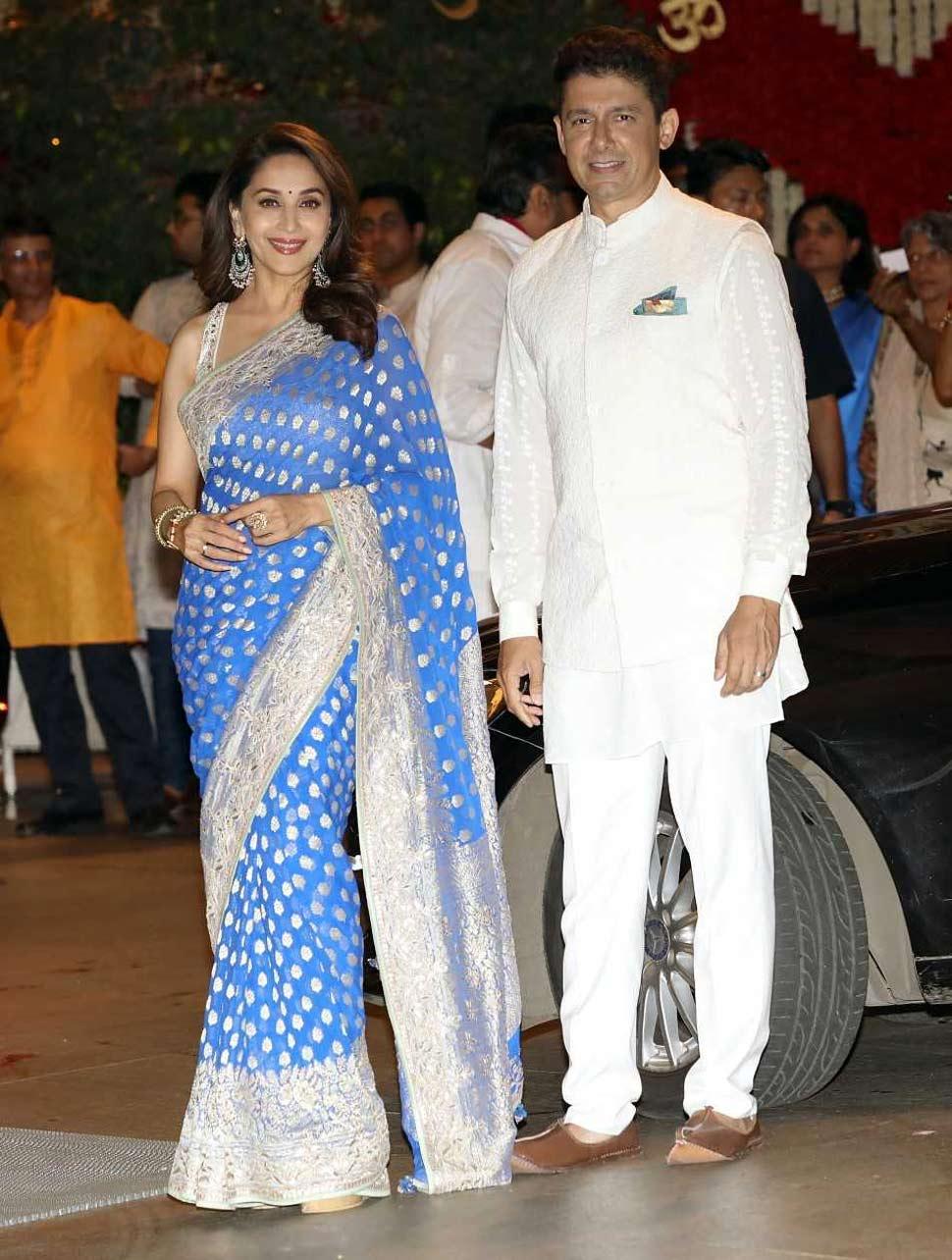 Madhuri Dixit with husband Sriram Nane