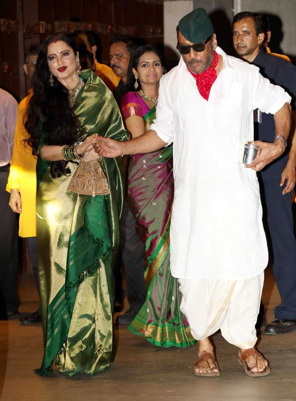 Actress Rekha With Jackie Shroff