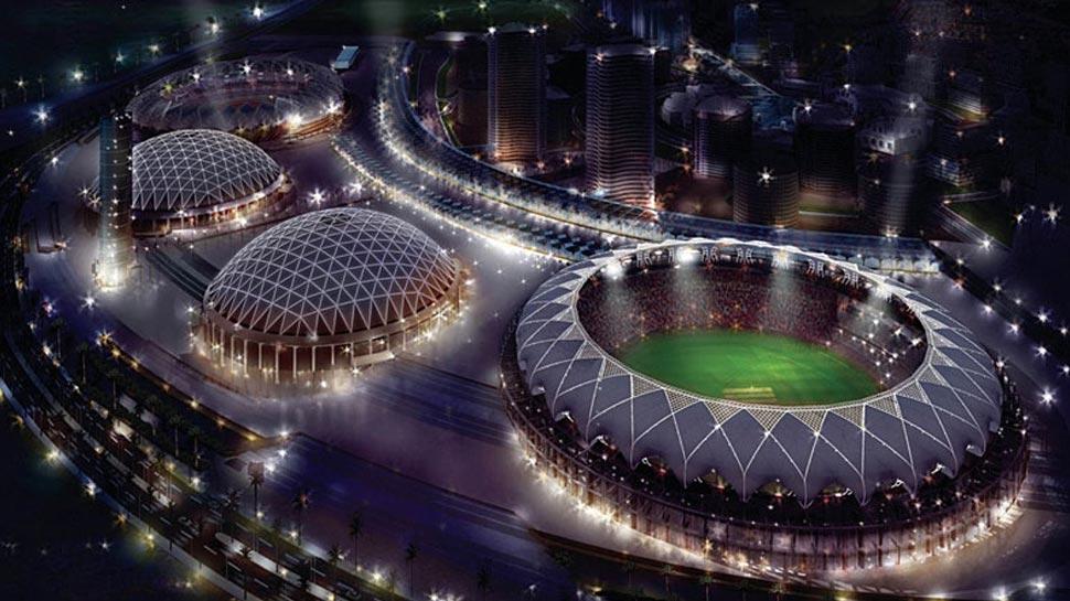 Rain proof roof in Dubai International Cricket Stadium