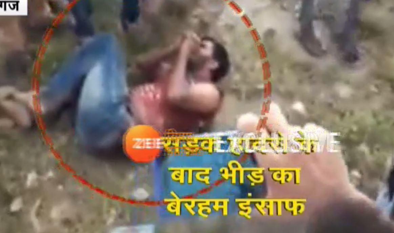 गोपालगंज: भीड़ा का दिखा क्रूर चेहरा, घायल युवक को पुलिस जीप से निकालकर बेरहमी से पीटा