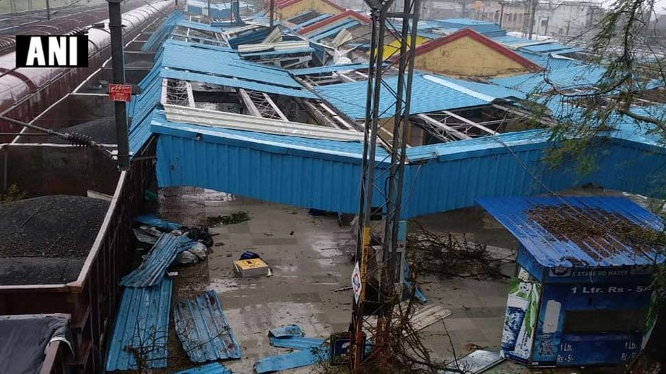 CycloneTitli hits the region Andhra Pradesh