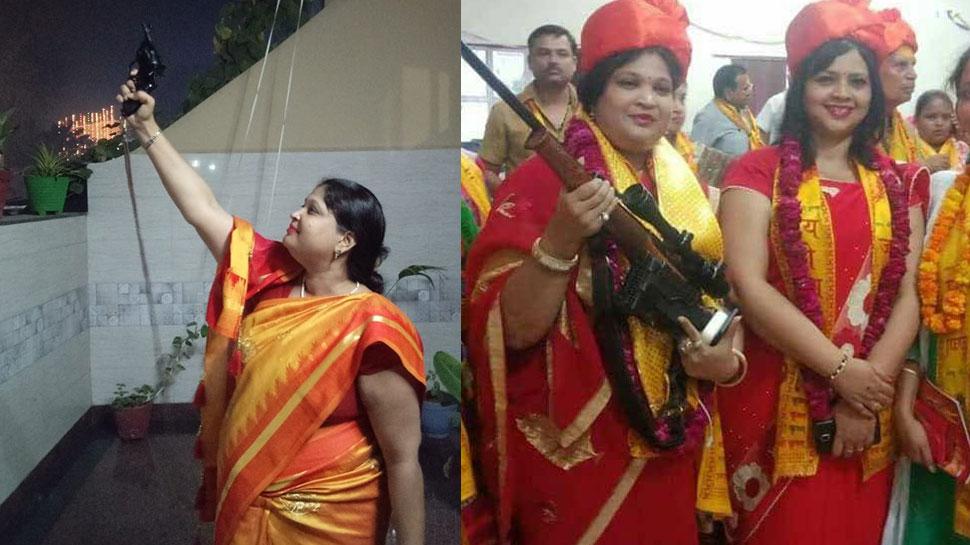 मथुरा बीजेपी पार्षद पर चढ़ा सत्ता का नशा, दिवाली पर की हर्ष फायरिंग