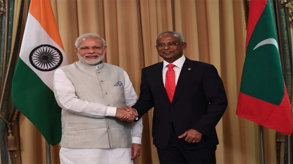 Image result for राष्ट्रपति सोलिह ने स्वीकार किया पीएम मोदी का निमंत्रण