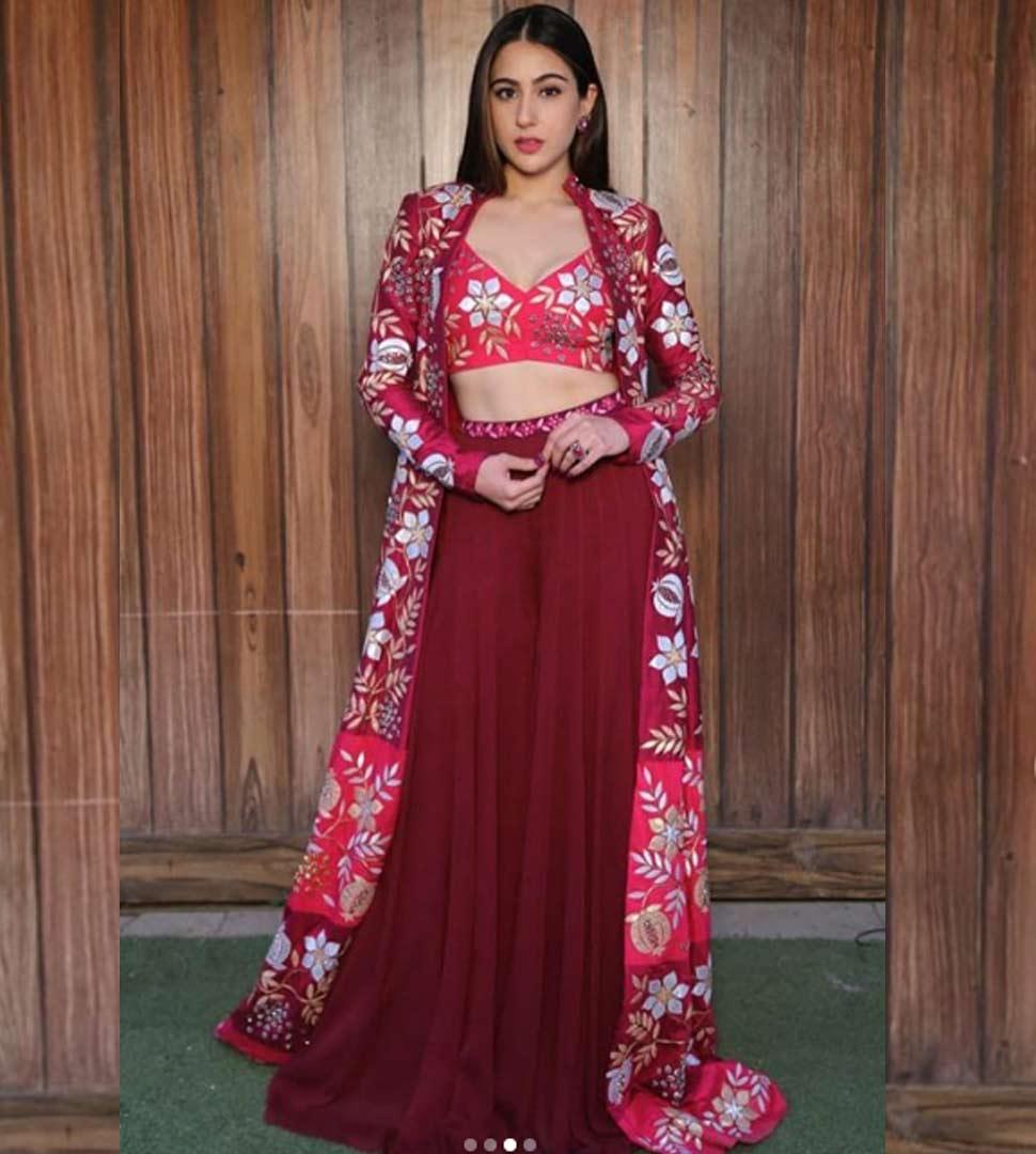 sara in indian look