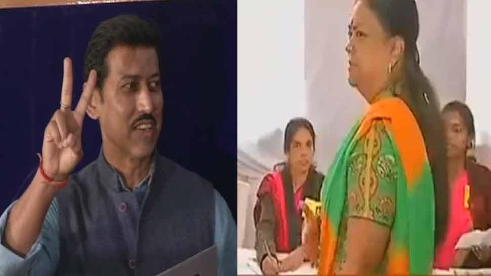 राजस्'€à¤¥à¤¾à¤¨ चुनाव LIVE : सुबह 9 बजे तक 6.11% हुआ मतदान, सीएम राजे समेत कई मंत्रियों ने डाला वोट