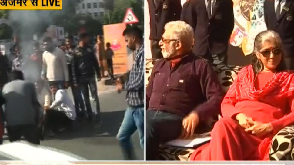 नसीरुद्दीन शाह के विवादित बयान पर अजमेर में विरोध, युवा मोर्चा ने जलाए पोस्टर्स