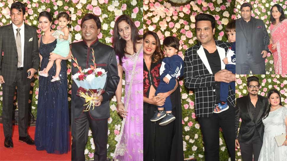 PHOTOS: कपिल शर्मा के रिसेप्शन पार्टी में अपने-अपने परिवार के साथ नजर आए ये कॉमेडियन