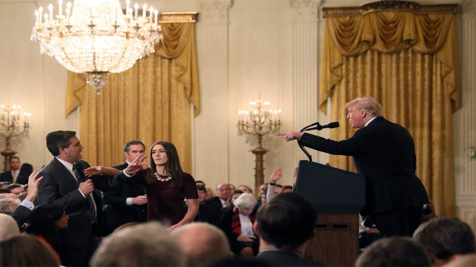 White House suspends press credentials of CNN senior journalist after spat with Trump